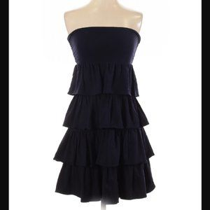J.Crew Factory Navy Blue Strapless Dress